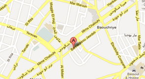 Execo au Liban sur google map